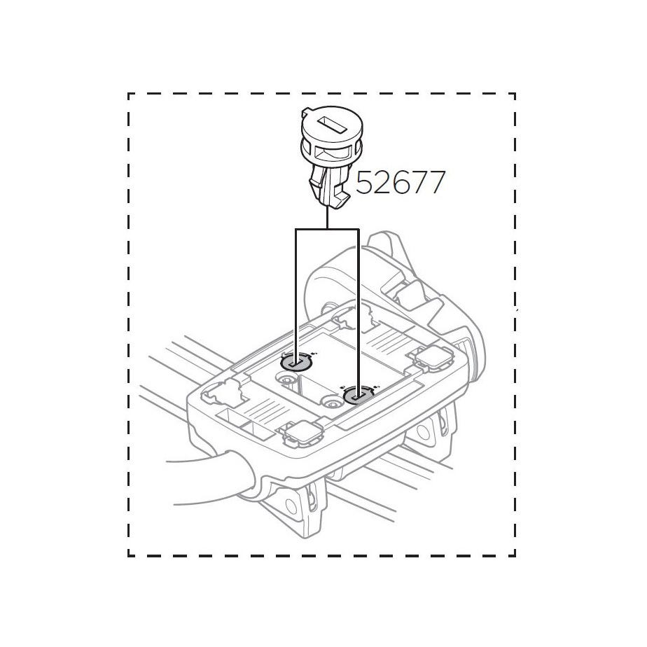 Thule 52677 Lock cylinder for 598