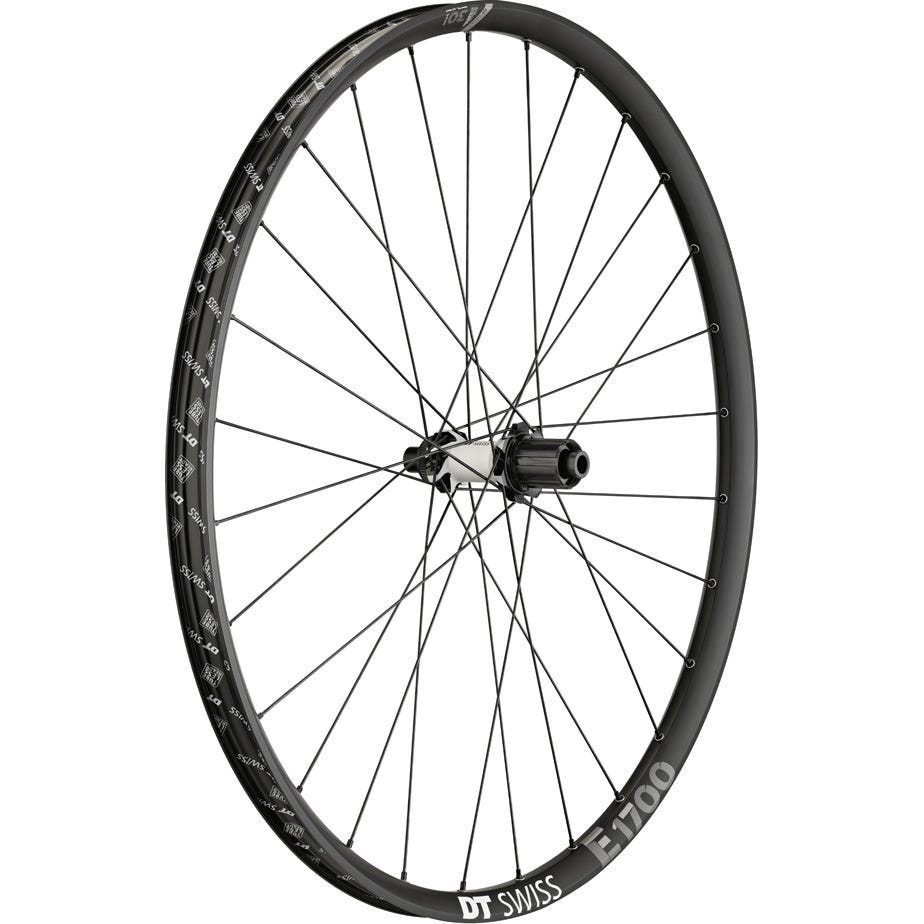 DT Swiss E 1700 wheel, 30 mm rim, 12 x 142 mm axle, 27.5 inch rear Sram XD
