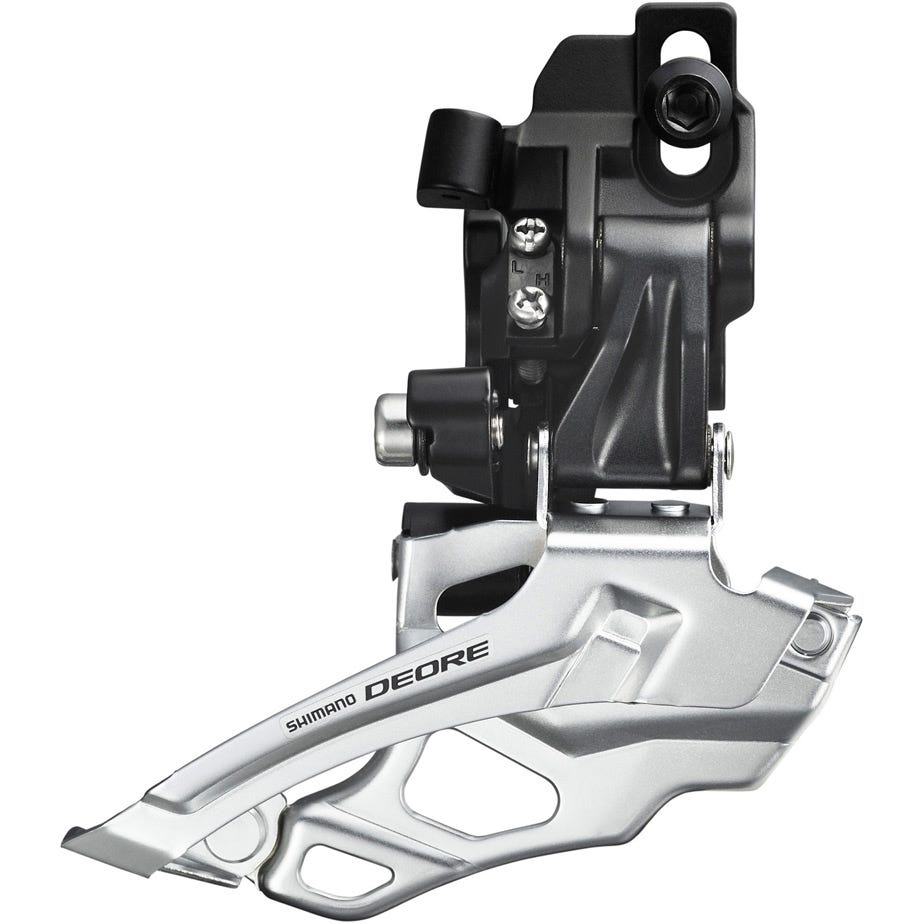 Shimano Deore FD-M616 Deore 10-speed double front derailleur, top-pull, direct-fit, black