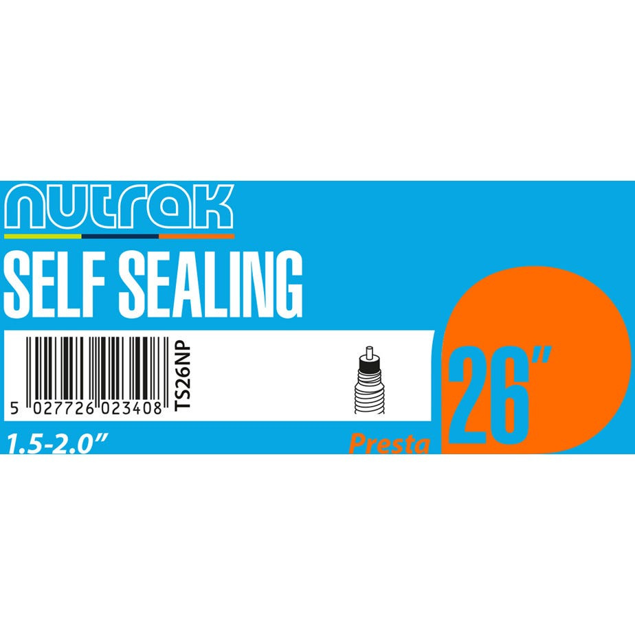 Nutrak 26 x 1.5 - 2.0 inch Presta - self-sealing inner tube