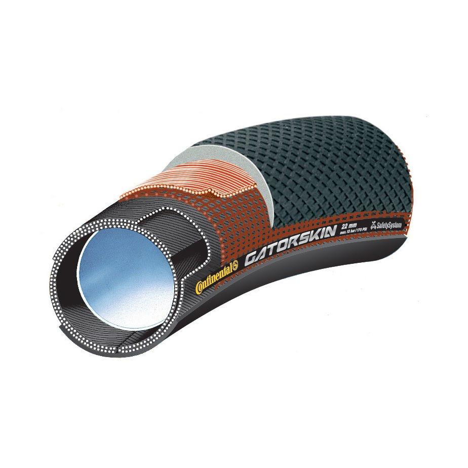 Continental Sprinter GatorSkin Black / DuraSkin Tubular Tyre