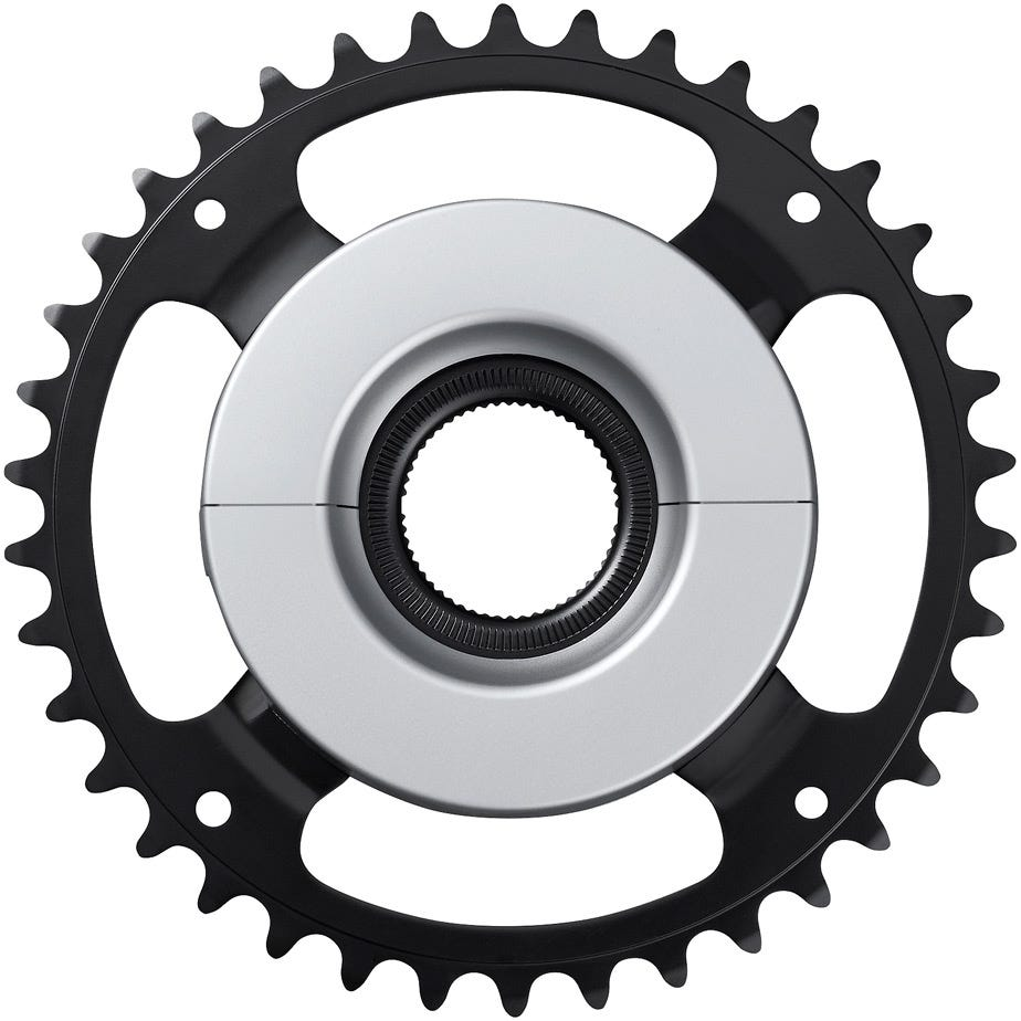 Shimano STEPS SM-CRE61 STEPS chainring, black/silver, 44T without chainguard