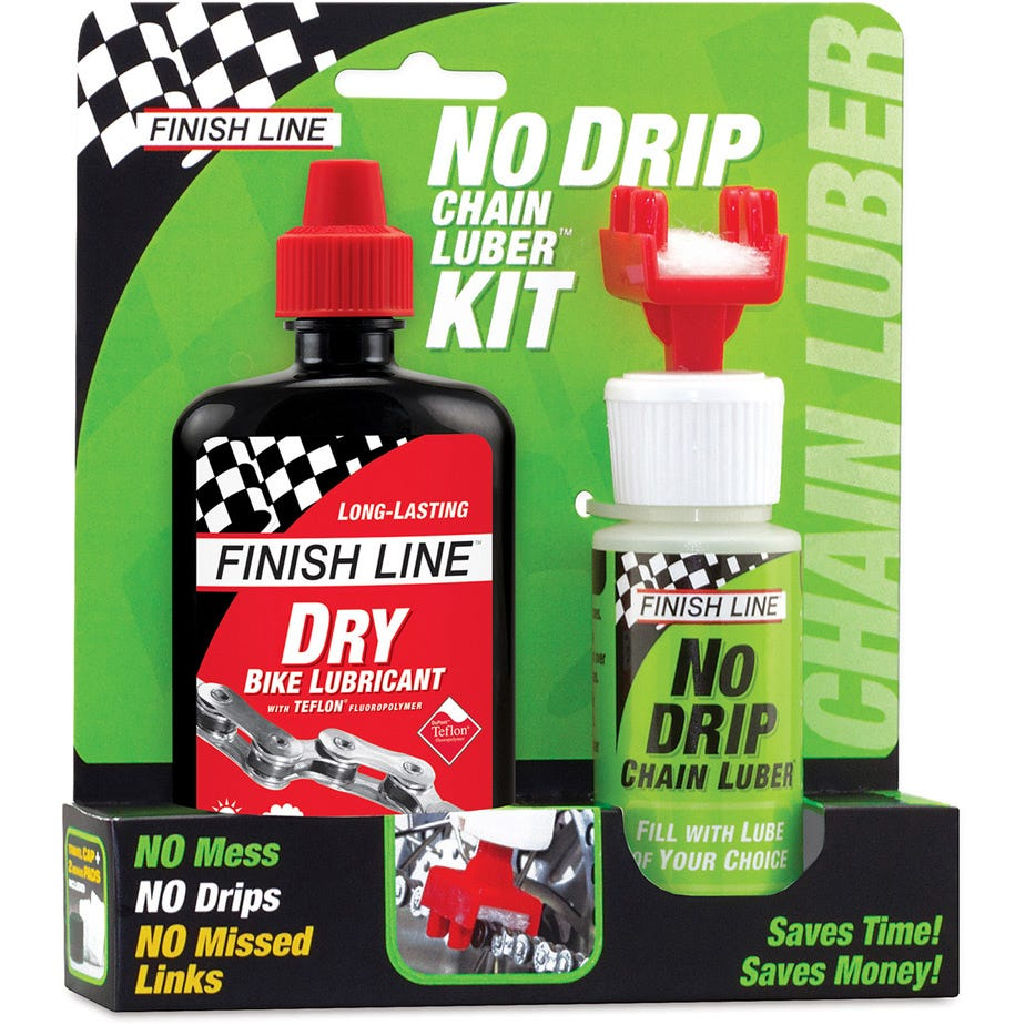Finish Line No Drip Chain Luber Combo (4oz Dry Lube + No Drip Chain Luber)