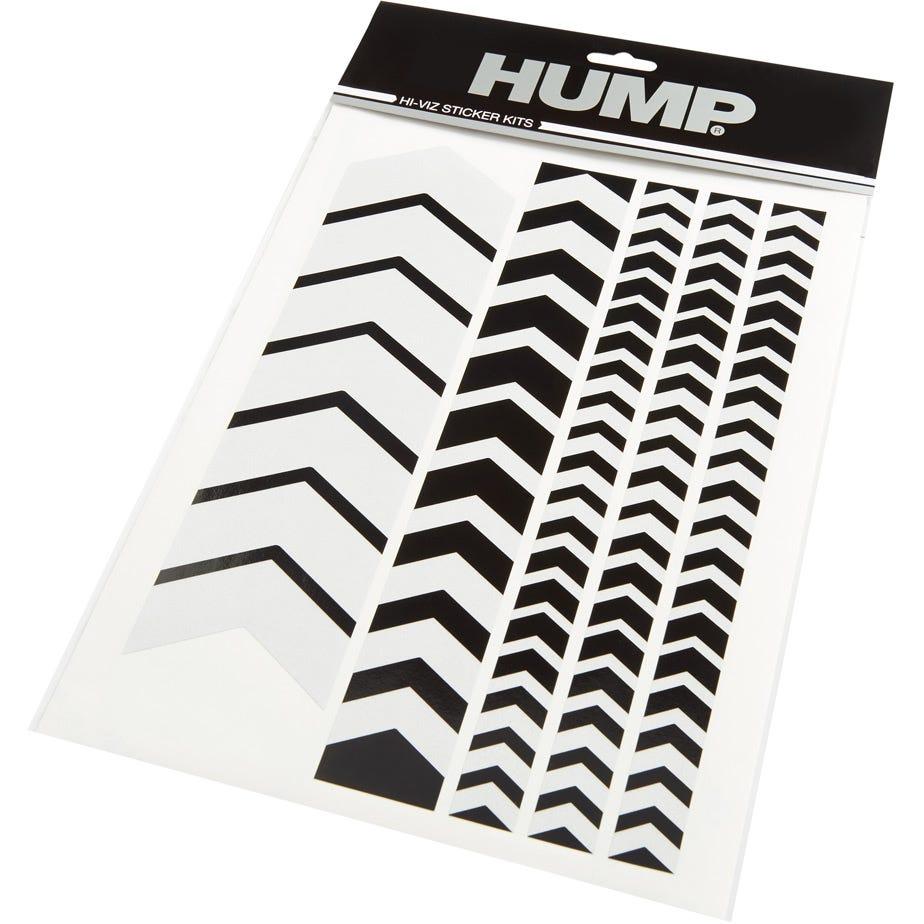 Hump Hi-Viz reflective sticker sheet, chevron black
