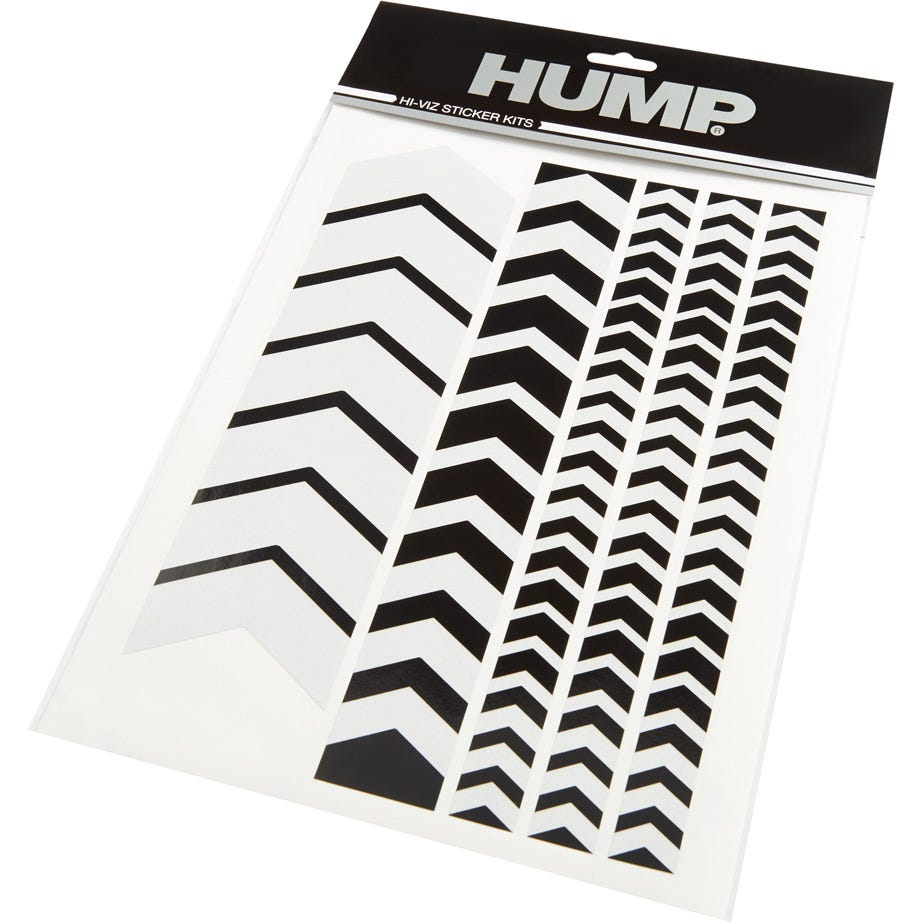 Hump Hi-Viz reflective sticker sheet, chevron black
