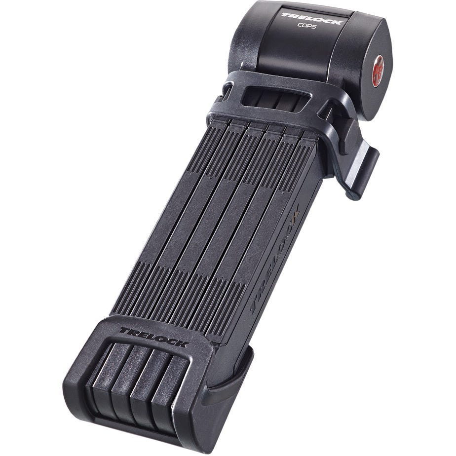Trelock Folding Lock FS460 100cm COPS L Black Sold Secure Silver