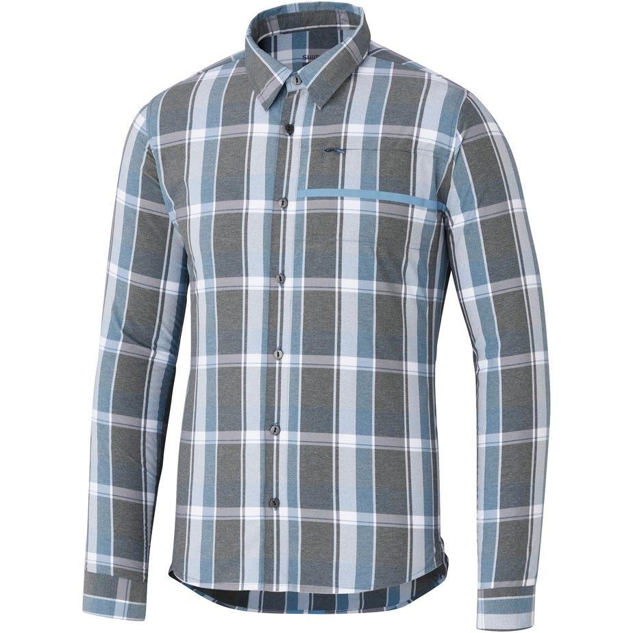 Shimano Clothing Men's Transit Check Button Up Shirt