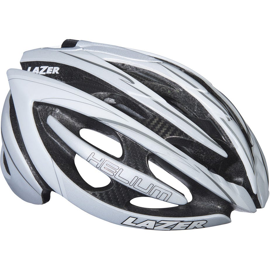 Lazer Helium S white silver medium helmet