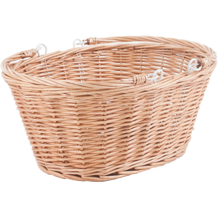 M Part Borough Oval Wicker Basket With Handles And Quick Release Bracket