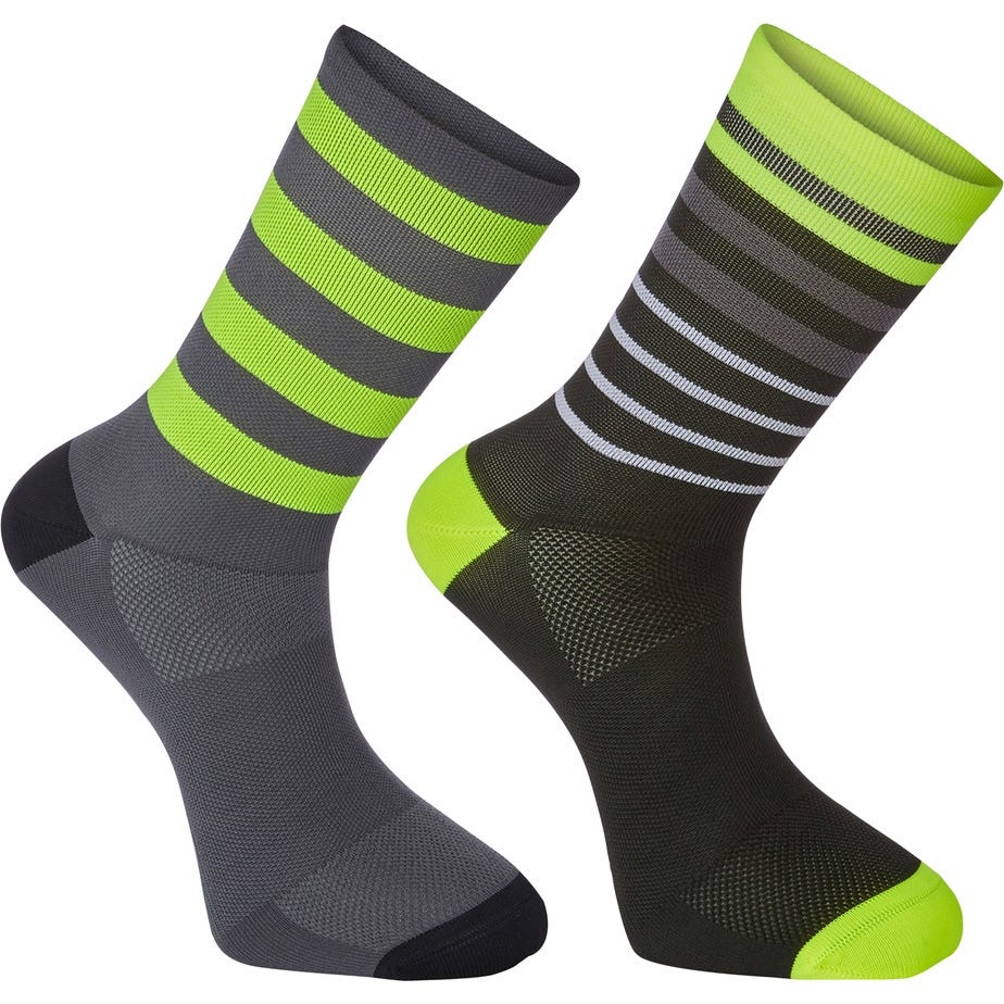 Madison Sportive long sock twin pack, multi hoop