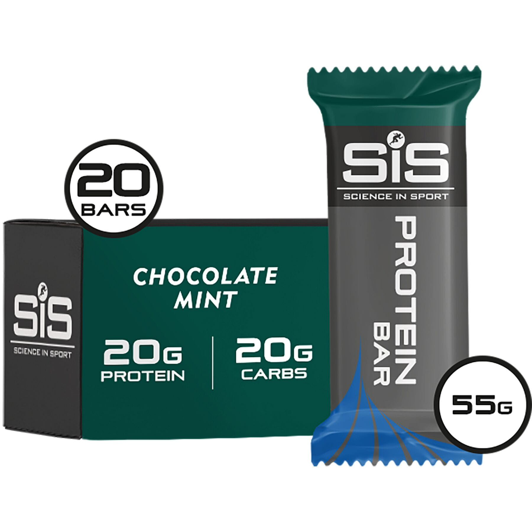 Science In Sport REGO Protein Bar - Mint Chocolate - 55 g - each