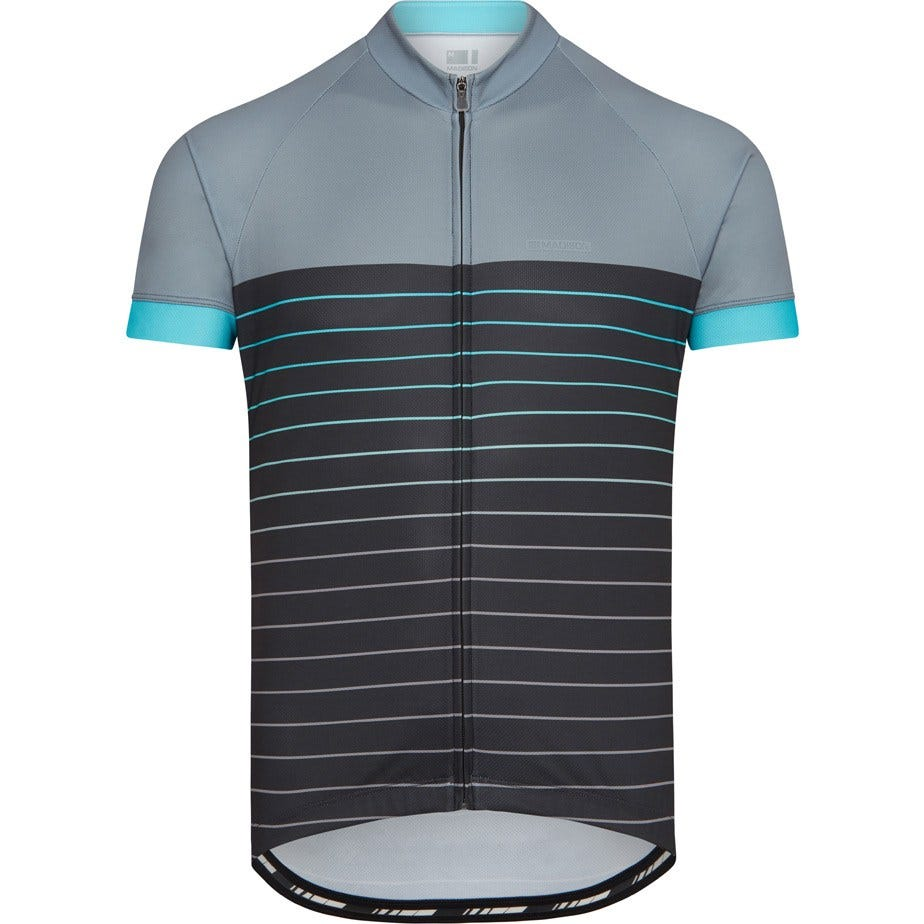 Madison Peloton men's short sleeve jersey, pin stripes