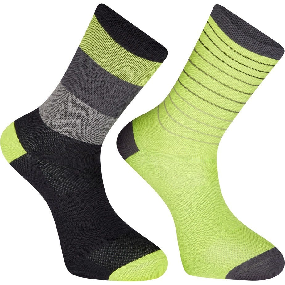 Madison Sportive long sock twin pack, stripes