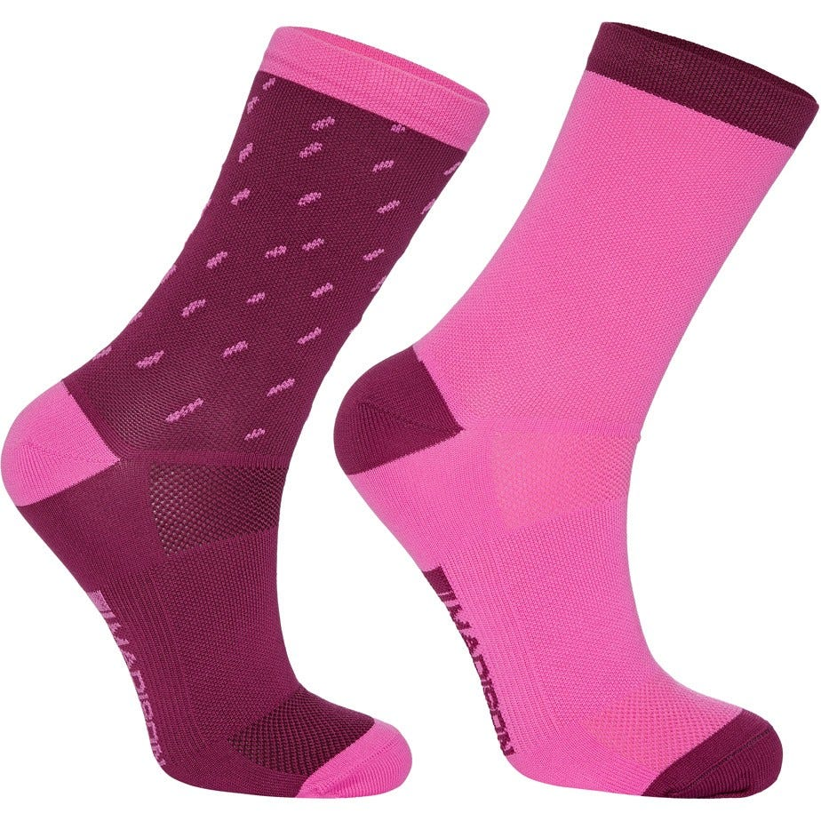 Madison Sportive mid sock twin pack, rain drops