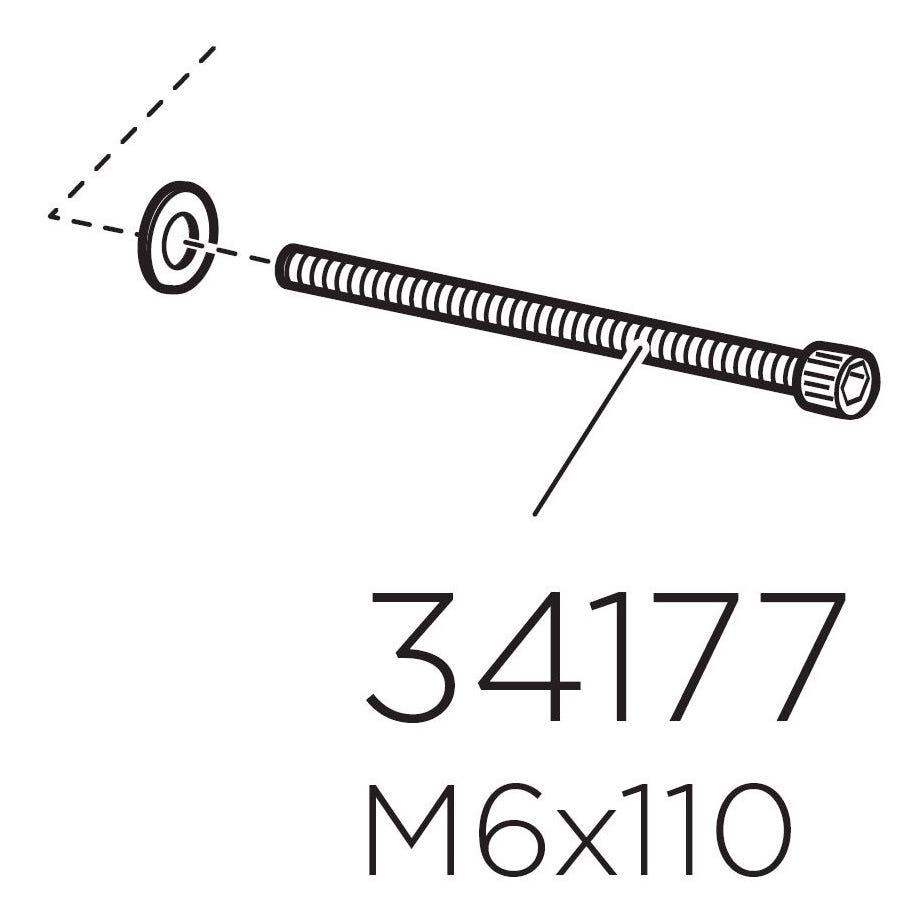 Thule 34177 Screw MC 6S M6 x 110 mm