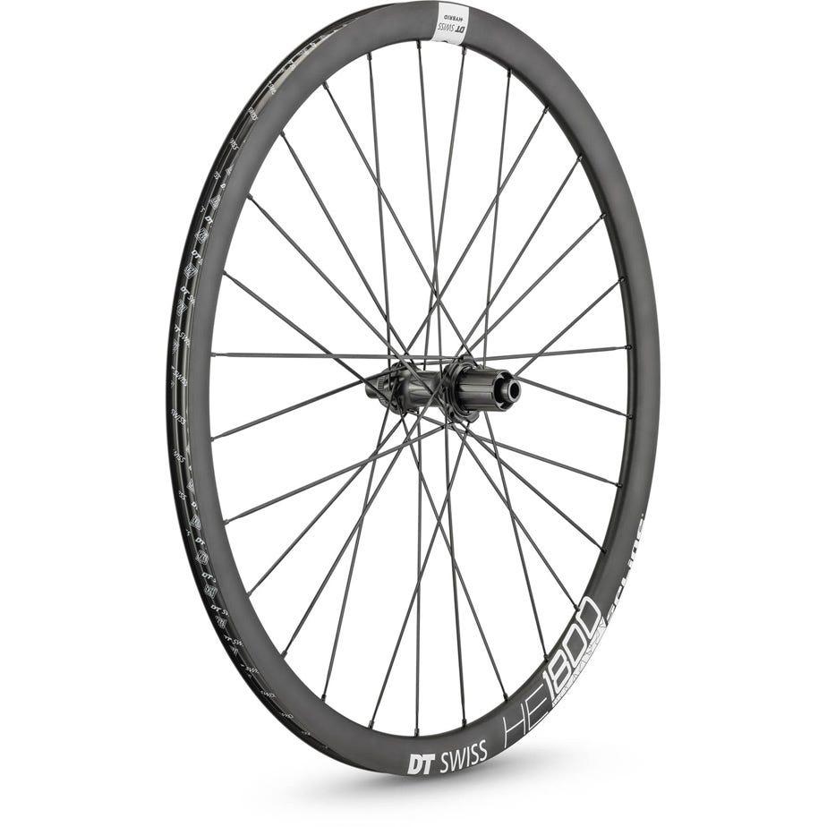 DT Swiss HE 1800 HYBRID disc brake wheel, clincher 23 x 20 mm, 148 x 12 mm axle, rear
