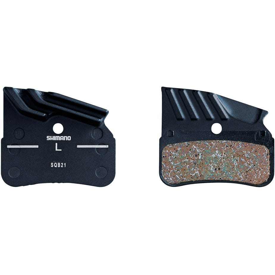 Shimano Spares N04C disc pads and spring, alloy backed with cooling fins, metal sintered