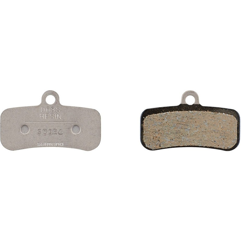 Shimano Spares D03S disc brake pads and spring, steel backed, resin
