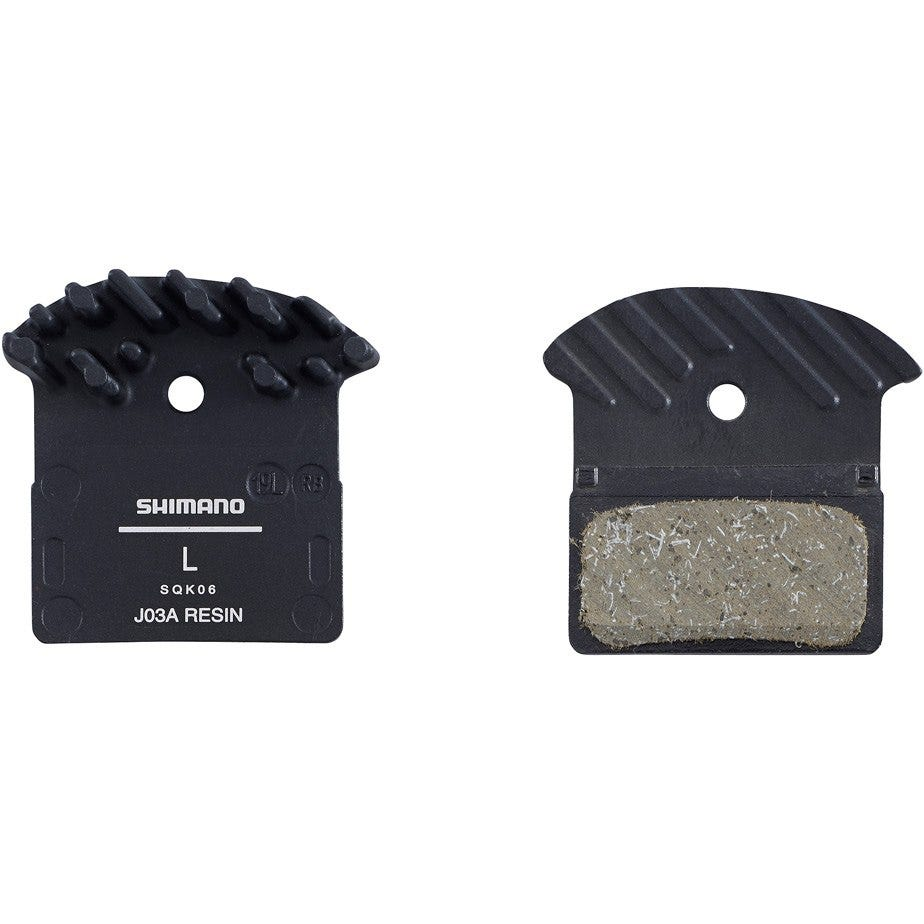 Shimano Spares J03A disc brake pads and spring, alloy backed with cooling fins, resin
