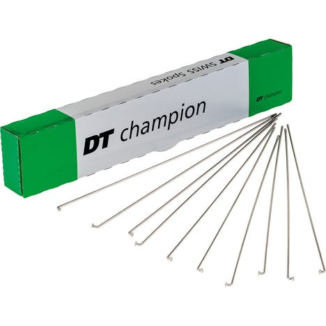 DT Swiss Champion silver spokes 14 g = 2 mm box 100