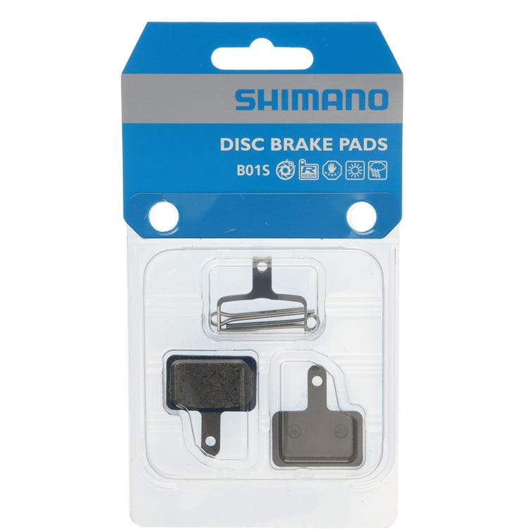 Shimano Spares B01S disc brake pads, steel backed, resin