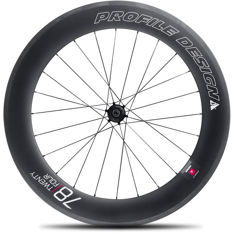 Profile Design 78 Twenty Four Full Carbon Clincher Wheel - Rear
