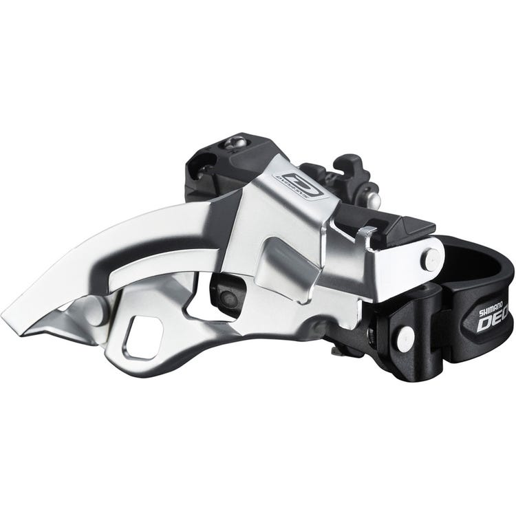 Shimano Deore FD-M610 Deore 10-speed triple front derailleur, top swing, dual-pull