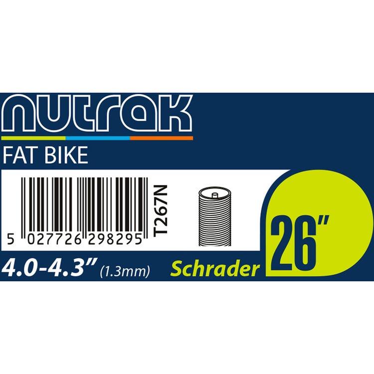 Nutrak 26 x 4.0 - 4.3 inch Schrader inner tube 1.3 mm butyl