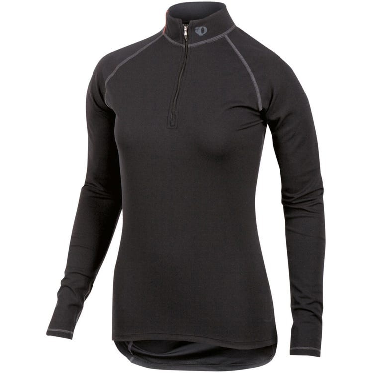 PEARL iZUMi Women's Transfer zip neck LS Baselayer
