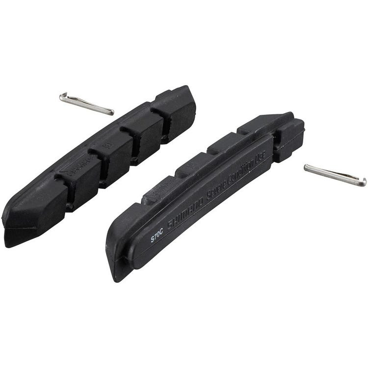 Shimano Spares S70C cartridge brake shoe inserts with fixing pin, pair