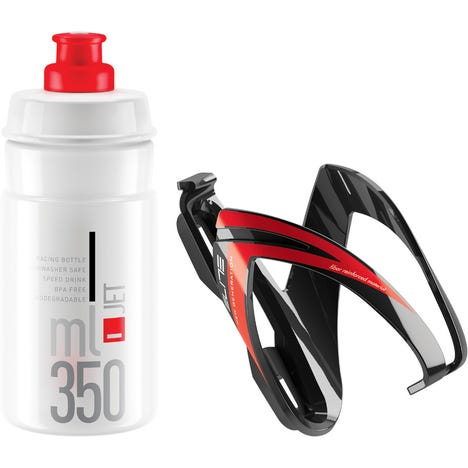 Ceo Jet youth bottle kit includes cage and 66 mm, 350 ml bottle red