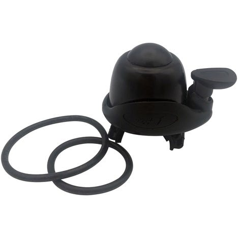 Bell with straps black, carded