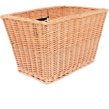 Spitalfields rectangular wicker basket with mounting plates