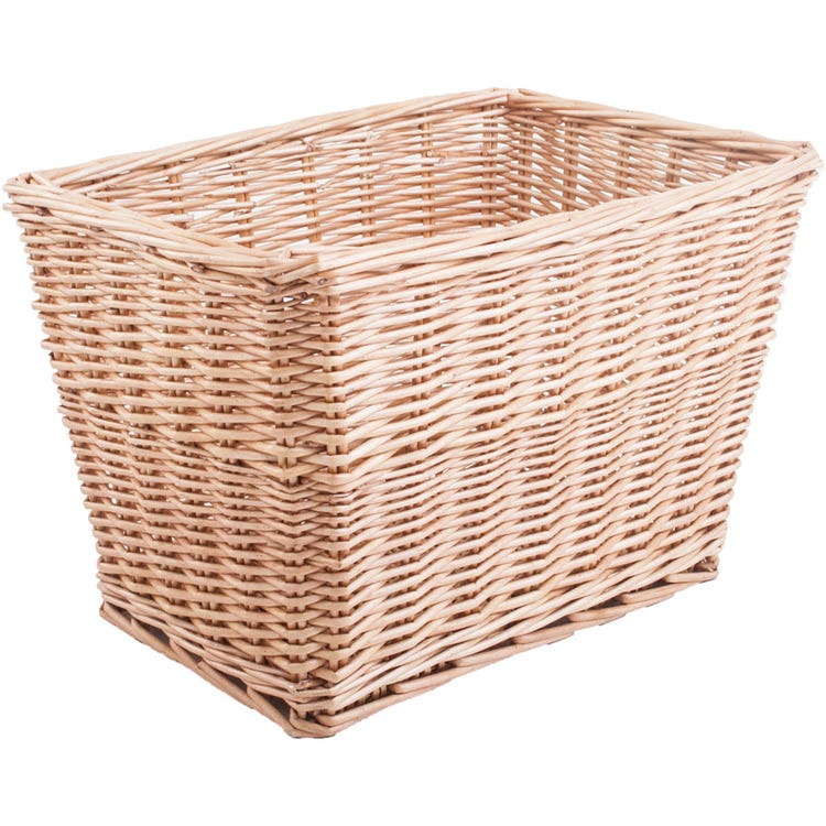 M Part Spitalfields rectangular wicker basket with mounting plates