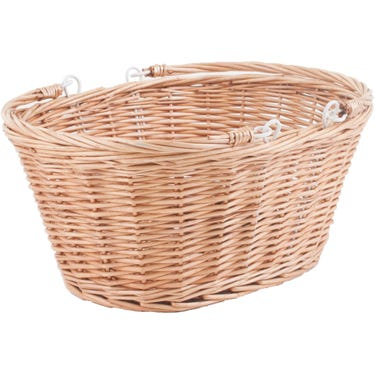 Borough Oval Wicker Basket With Handles And Quick Release Bracket