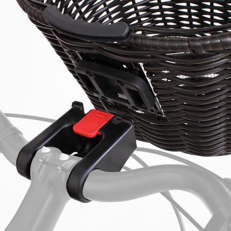 Stockbridge woven plastic wicker basket