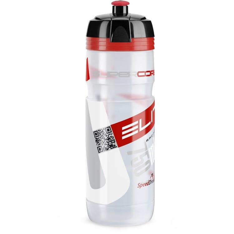 Elite SuperCorsa Bottle Biodegradable clear red logo 750 ml