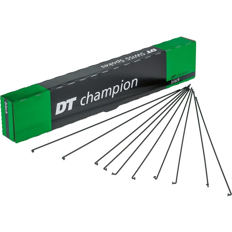 DT Swiss Champion black spokes 14g = 2mm box 100