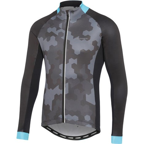 Sportive men's long sleeve thermal jersey, hex camo