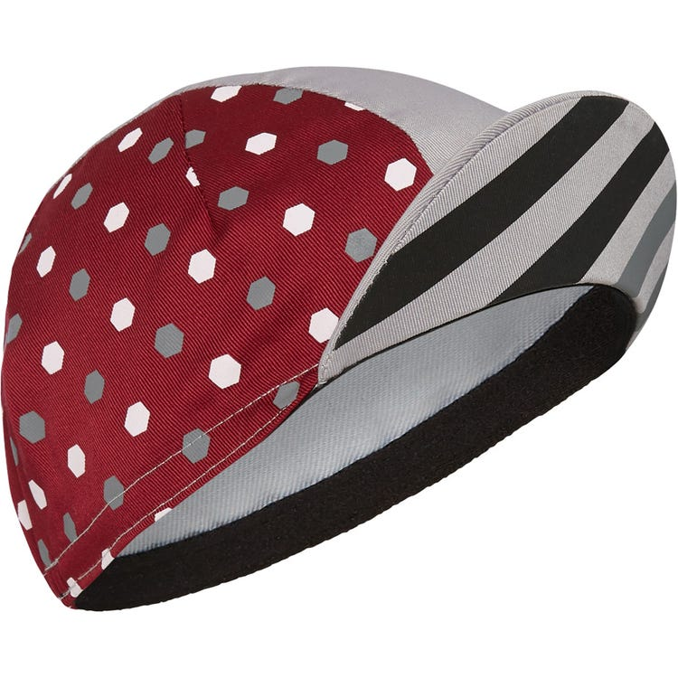 Madison Sportive poly cotton cap, hex dots