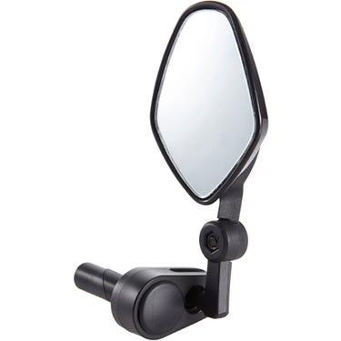 Commute mirror internal bar-end clamp black