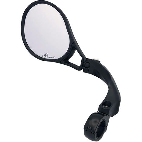 E-bike E13 approved mirror, adjustable, left handlebar clamp fitting