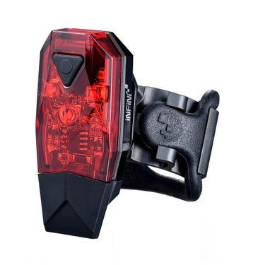 Mini-Lava super bright micro USB rear light, black with red lens