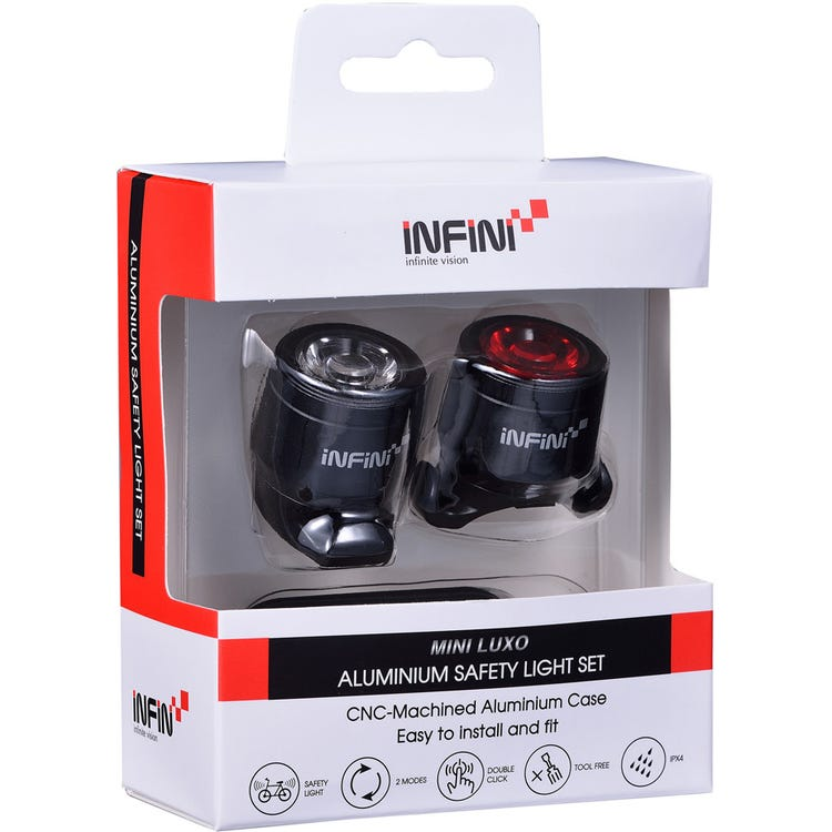 Infini Mini-Luxo USB front and rear lightset, black