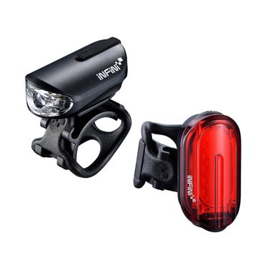 Olley lightset micro USB front and rear lights black