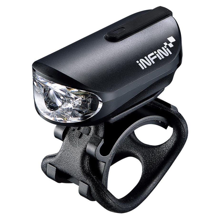 Infini Mini-Lava Bicycle Cycle Bike Rechargeable USB Front Light Black