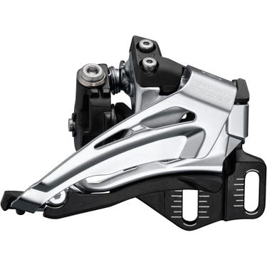 Deore M6025-E double front derailleur, E-type mount, top swing, down pull