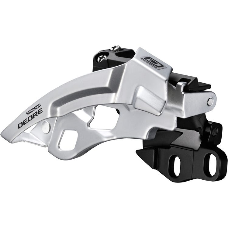 Shimano Deore Deore M612-E triple front derailleur, E-type, side swing, front pull