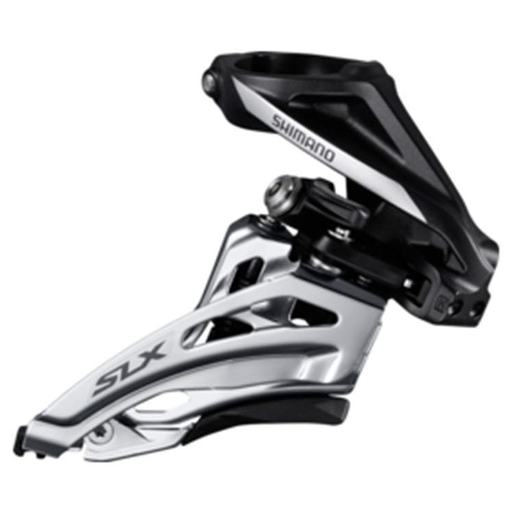 Shimano SLX SLX M677-H double front derailleur, high clamp, side swing, front pull