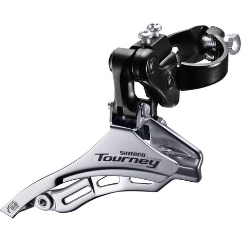 FD-TY300 Tourney 6/7-speed triple front derailleur, top pull, 31.8 mm, for 42T